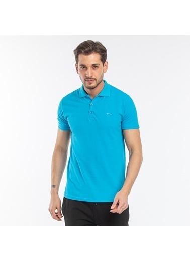 Slazenger Slazenger SOHO Erkek T-Shirt Hardal Turkuaz